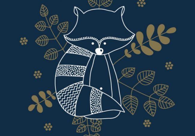 Affiche-papier-Le-raton-laveur-Les-petites-hirondelles