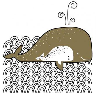 Affiche-papier-Les-baleines-Les-petites-hirondelles