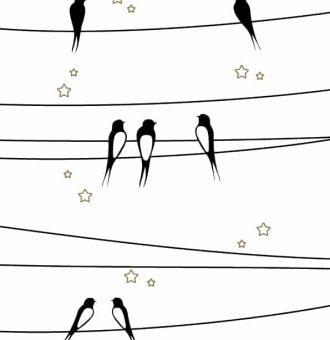 Affiche-papier-Les-hirondelles-sur-le-fil-Petite-Les-petites-hirondelles